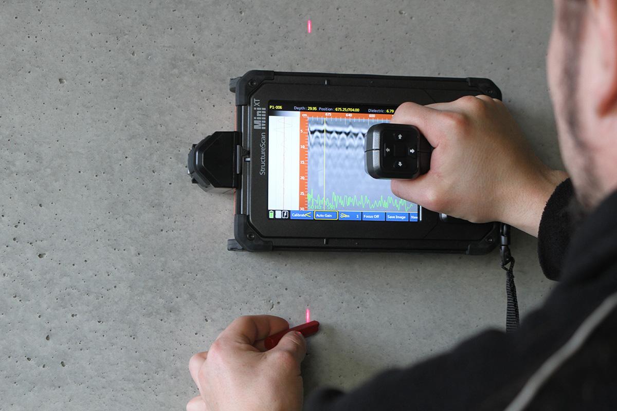 Spanngliedortung mittels Radarverfahren