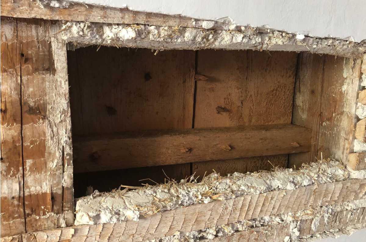 Aufbau der zu prüfenden Holzbalkendecken