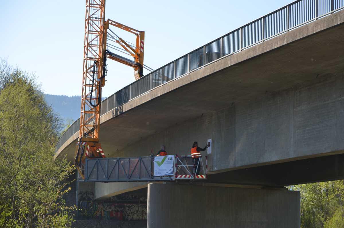 Brücke Spanngliedortung Brückenuntersichtgerät