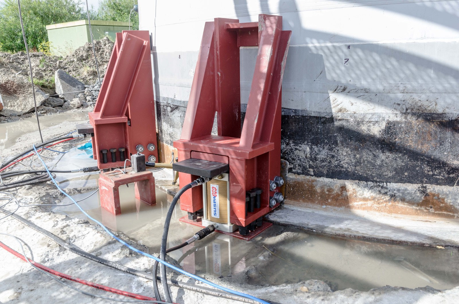 Lasteinleitung anheben Windkraftanlage
